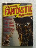 Famous FANTASTIC MYSTERIES Oct 1940 • MERRITT - FACE In The ABYSS • SCI-FI Pulp