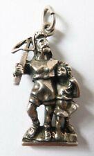Pendentif breloque statuette Guillaume TELL en ARGENT massif bijou ancien