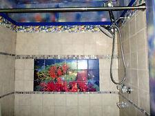 24 x 12 Art Colorful Ocean Underwater Coral Mural Ceramic Bath Tile #289