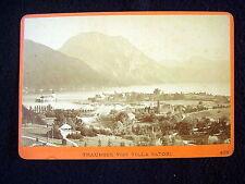 OLD ALBUMEN/CABINET CARD: TRAUNSEE VON VILLA SATORI~PHOTO: WÜRTHLE & SPINNHIRN