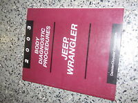 2003 JEEP WRANGLER Body Diagnostic Procedures Service Shop Repair Manual bdp