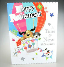 Happy Retirement - A Time for New Adventures. Lovely LARGE CUTE Greeting Card.