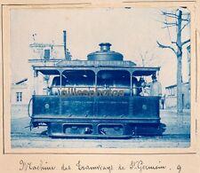 Cyanotype Tramway Vapeur c. 1900 -  Tramway de Saint Germain - 98