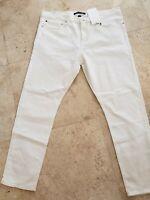 CALVIN KLEIN MEN CKJ026 NANTUCKET WHITE DENIM JEANS SLIM FIT & LEG 38X32 $69 NWT