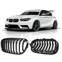 2 Gloss Black Front Kidney Grilles Grill for 2015-2019 BMW F20 F21 LCI 118i 120i