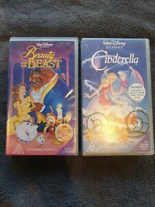 Walt Disney Beauty And The Beast, Cinderella VHS