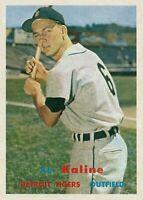 LOT of 25 REPRINT 1957 Topps #125 AL KALINE Tigers HOF REPRINT