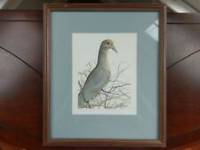 P. Buckley Moss Signed Print 'Grey Dove' Art1988 Framed Numbered 53 / 1000 Bird
