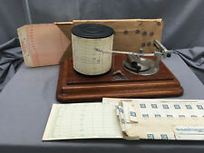 Vintage Taylor Instrument Company Barometer w/ Charts Rochester NY
