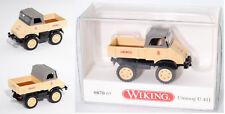 Wiking 087065 Mercedes-Benz Unimog 411, 1:87, Sondermodell Agritechnica