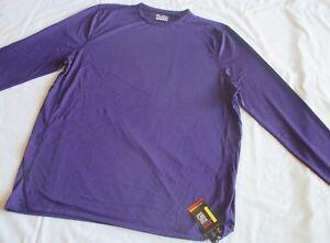Men S UNDER ARMOUR UA FIT Heat Gear PURPLE Long Sleeve LOOSE FIT SHIRT Anti-Odor