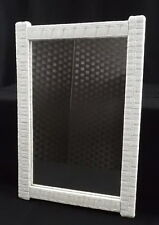 Wall Mirror Vintage Wicker Rattan Rectangle
