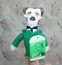 "NIKOLA TESLA MAGNETIC PERSONALITIES FINGER PUPPET & FRIDGE MAGNET 4.5"" NEW  2013"