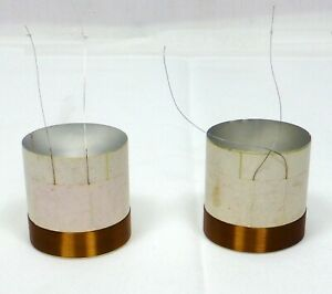 """2pcs 1.5"""" (38.19mm) Voice Coil 2 Layers Round Copper Wire Bass Speaker Parts"""