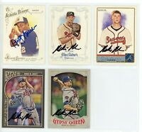 ATLANTA BRAVES Autographed ALLEN & GINTER Baseball Card Lot -5 Autos DUSTY BAKER