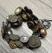 Fun Lot of 35 Old Antique Victorian Picture Buttons Waistcoat Small Rare