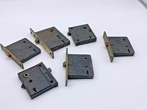 Lot of Six  Antique Mortise Steel Locks by Corbin and Sargent