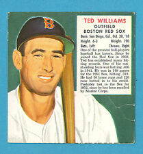 1952 Red Man Baseball Card American League #23 Ted Williams, Red Sox (VG) AL23