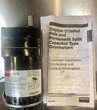 Dayton Gear Motor 6Z076B 1/80hp 8.8 rpm 1phase. AC gear motor. NEW FREE SHIPPING