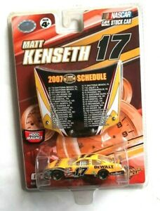 Matt Kenseth 17 Car 1:64 schedule card 2007 Nascar Stock Car