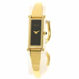 GUCCI Square face Watches 1500L Gold Plated/Gold Plated Ladies