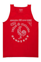Sriracha Logo Mens Red Tank Top Shirt