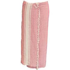 Pareo rosa Sarong Strandtuch Wickelkleid Baumwolle Strand Bekleidung