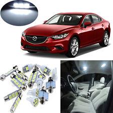 8pcs White LED lights interior package kit for 2014-2016 Mazda 6 #