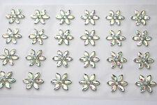 48 x 15mm Sparkling Crystal Sunflower AB Sticker Self Adhesive Flowers