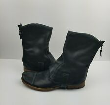 Vero Cuoio Riff Men's Shoes Distressed Vintage Look With Ankle Chaps Size 8