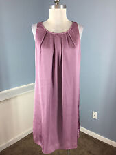 Dana Buchman Purple Shift Dress Exposed Back Zipper M L Cocktail Party EUC