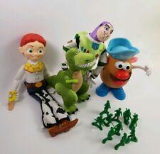 Lot of 5 Toy Story Plush Toys Rex, Buzz Lightyear, Mr. Potato Head, Army & Jesse