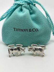 TIFFANY & CO. Bull & Bear Cufflinks in Sterling Silver Cuff Links 925
