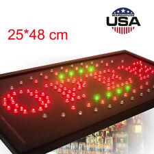 Illuminated Led Open Business Sign Neon Light Motion Flashing Display Shop Store