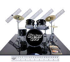 Mini Drum set Status Quo tribute miniature model scale 1:4 collectible gadget