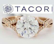 0.22 ct TACORI Ribbon 2565MDRD 18K Rose Semi-Mount Engagement Ring Rtl $3,190