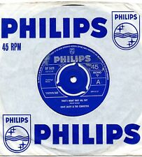 DAVE LACEY & THE CORVETTES that's what they all say 1965 UK PHILIPS BEAT 45