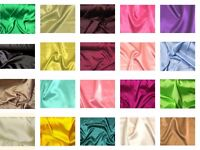 """Stretch Charmeuse Satin Polyester Spandex Fabric 58"""" to 60"""" Wide By The Yard"""