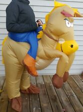 Airblown Inflatable Halloween Costume Adult  One Size Cowboy Horse Blow Up Suit