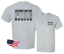 Custom Fire Rescue Your Department Name T Shirt Small - 6X (16 Tee Colors)