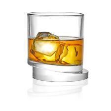 JoyJolt Round Aqua Vitae 11.6 oz Crystal Whiskey Glass, Set of two Off Base
