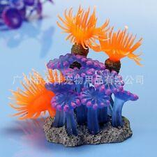 Aquarium Eau Décor Artificiel Betta Résine Corail Oursin Sous-marin Ornement NF