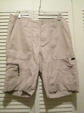 Eddie Bauer Men's 32 tan cargo shorts 67% cotton/33% nylon