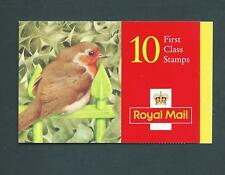 Lx9 Christmas 1995, 10 x 1st barcode Booklet. Robin on railling