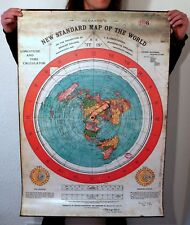 More details for flat earth pvc poster prints gleasons new standard map of world 1892 (40