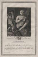 1780 Titian Tizian Venus Cupid Engel Mythologie mythology Kupferstich engraving