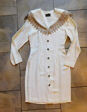 515  My Michelle Ivory Long Sleeve Dress 9 10  Shawl Collar Bridal