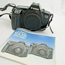 Canon EOS 650 35mm SLR Film Camera Body Only with instructions
