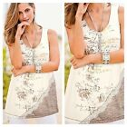 Together Size 8 Lace Detail Sleeveless TOP Occasion Holiday New Floral Print Fab