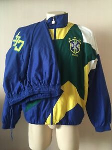 BRAZIL 1994- 1997 Umbro World Cup 94 Home Football Woven Tracksuit (m) Romario